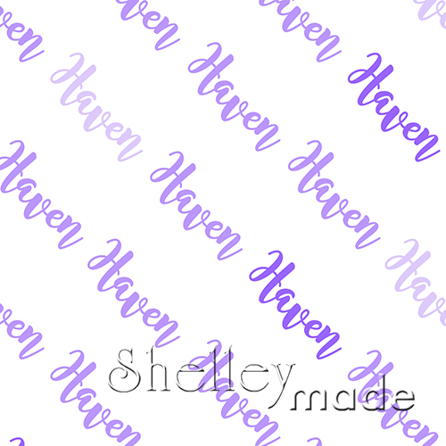 ShelleyMade Personalised Name Design Fabric Diagonal - Brush
