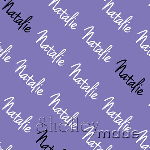 ShelleyMade Personalised Name Design Fabric Diagonal - Hand