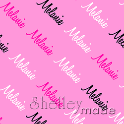 ShelleyMade Personalised Name Design Fabric Diagonal - Script