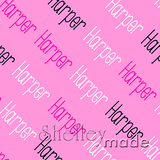 ShelleyMade Personalised Name Design Fabric Diagonal - Slender