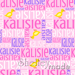 ShelleyMade Personalised Name Design Fabric Nested Image - Ducky