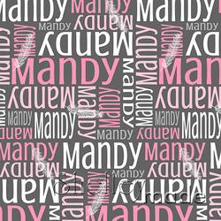 ShelleyMade Personalised Name Design Fabric Nested Image - Feather Fine