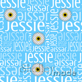 ShelleyMade Personalised Name Design Fabric Nested Image - Gerbera