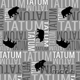 ShelleyMade Personalised Name Design Fabric Nested Image - Grizzly Bear