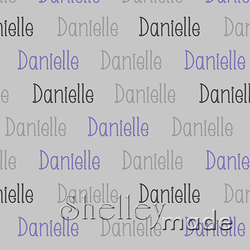 ShelleyMade Personalised Name Design Fabric Horizontal Design - Slender