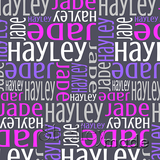 ShelleyMade Personalised Name Design Fabric Nested Design - Classic