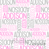 ShelleyMade Personalised Name Design Fabric Nested Design - Flexi Upper