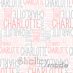 ShelleyMade Personalised Name Design Fabric Nested Design - Slender Upper