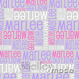 ShelleyMade Personalised Name Design Fabric Nested Design - Standard