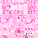 ShelleyMade Personalised Name Design Fabric Nested Image - Owl Daisy