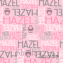 ShelleyMade Personalised Name Design Fabric Nested Image - Owl Spot