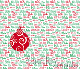 Christmas Santa Sack Panel - Typographic White