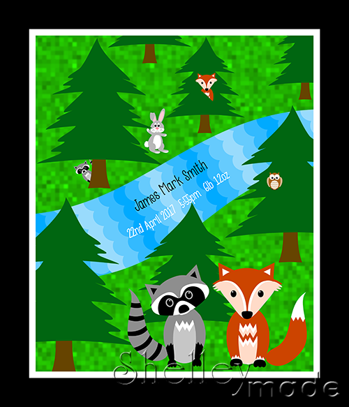 Special Edition Panel - Forest Fox Raccoon