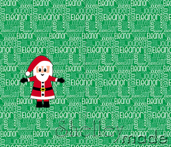 Christmas Santa Sack Panel - Nested Green
