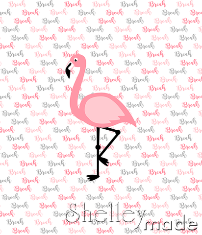 Brush Panel - Flamingo