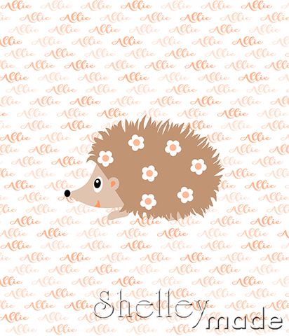 Brush Panel - Hedgehog Girl
