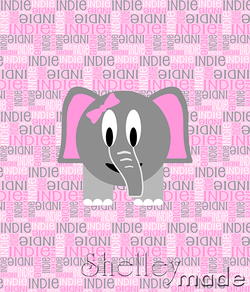 Nested Panel - Elephant Girl