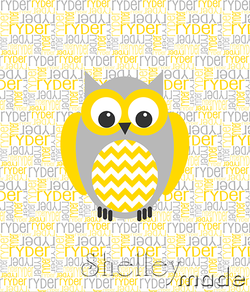 Nested Panel - Owl Chevron