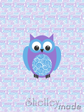 Nested Panel - Owl Swirl