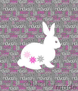 Nested Panel - Rabbit Floral