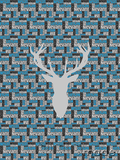 Nested Panel - Stag Head