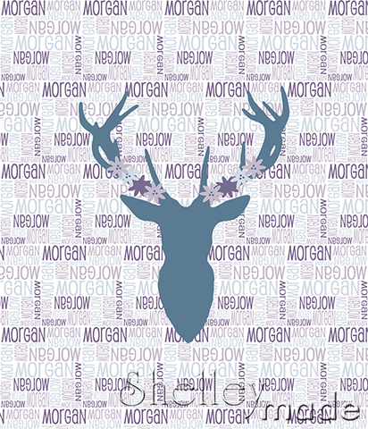 Nested Panel - Stag Head Floral