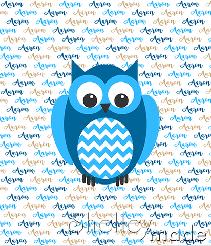 Brush Panel - Owl Chevron