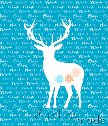 Brush Panel - Stag Floral