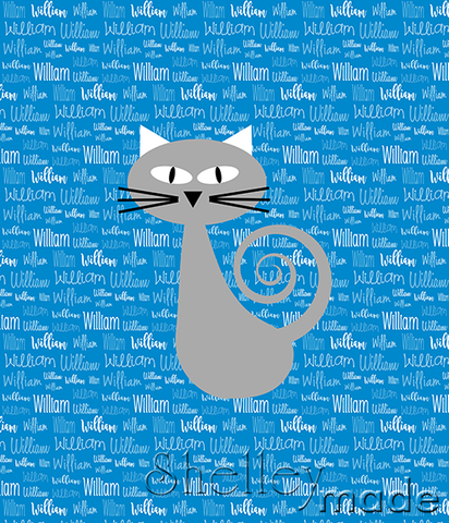 Typographic Panel - Cat