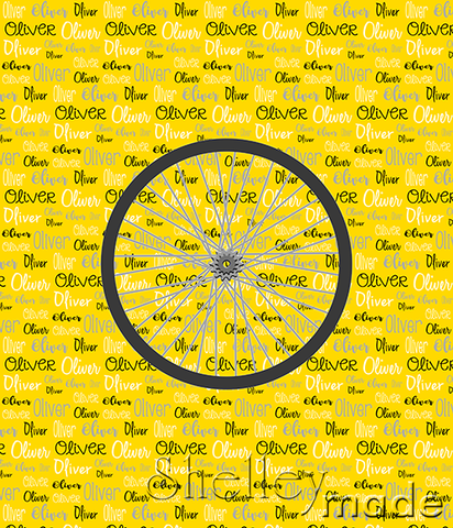 Typographic Panel - Cycle Wheel