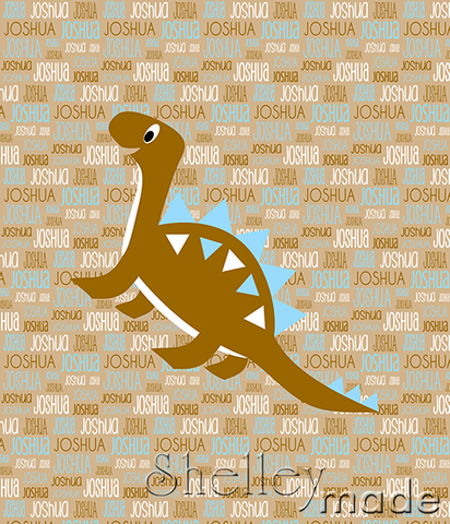 Typographic Panel - Dinosaur