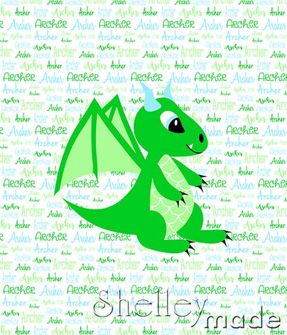 Typographic Panel - Dragon