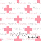 ShelleyMade Personalised Name Design Fabric Plus Design