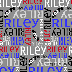ShelleyMade Personalised Name Design Fabric Nested Image - Police