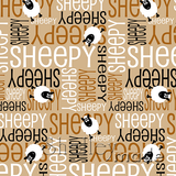 ShelleyMade Personalised Name Design Fabric Nested Image - Sheep