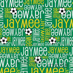 ShelleyMade Personalised Name Design Fabric Nested Image - Soccerball