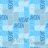 ShelleyMade Personalised Name Design Fabric Squared - Flexi Upper