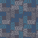 ShelleyMade Personalised Name Design Fabric Squared - Slender Upper