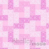ShelleyMade Personalised Name Design Fabric Squared - Standard
