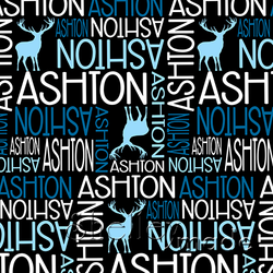 ShelleyMade Personalised Name Design Fabric Nested Image - Stag