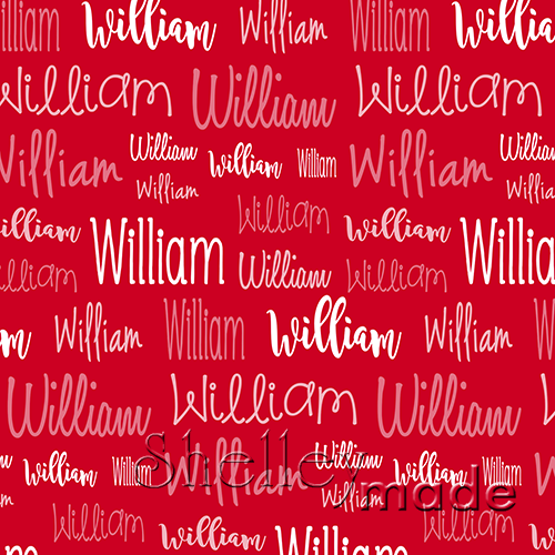 Christmas Typographic - Red