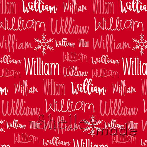 Christmas Typographic Image - Red