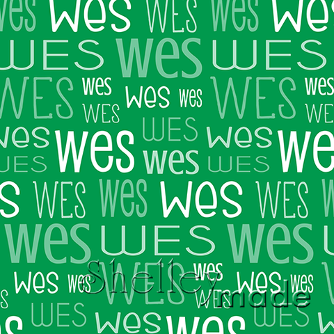 Christmas Typographic - Green