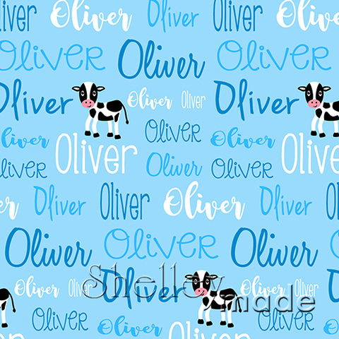 Typographic Image - Cow
