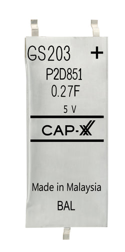 CAP-XX Dual Cell Supercapacitor - GS203F