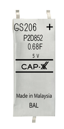 CAP-XX Dual Cell Supercapacitor - GS206F