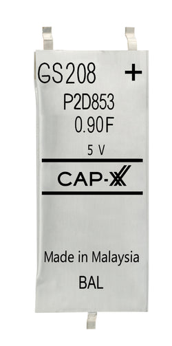 CAP-XX Dual Cell Supercapacitor - GS208F