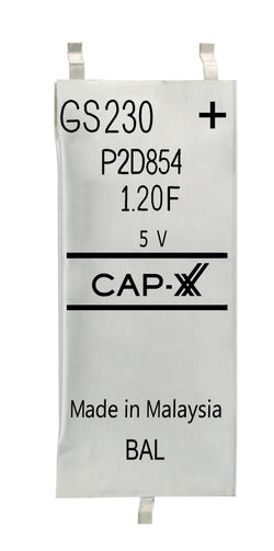 CAP-XX Dual Cell Supercapacitor - GS230F