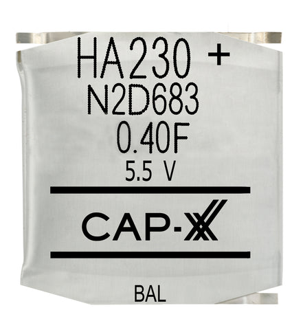CAP-XX Dual Cell Supercapacitor - HA230F