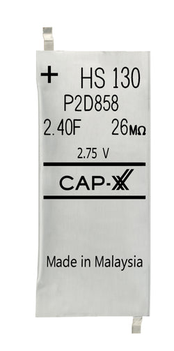 CAP-XX Singe Cell Supercapacitor - HS130